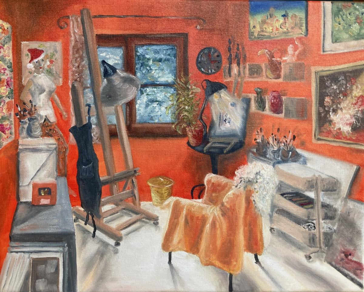 Mein Atelier, Öl au Leinwand, 40x50, 2020