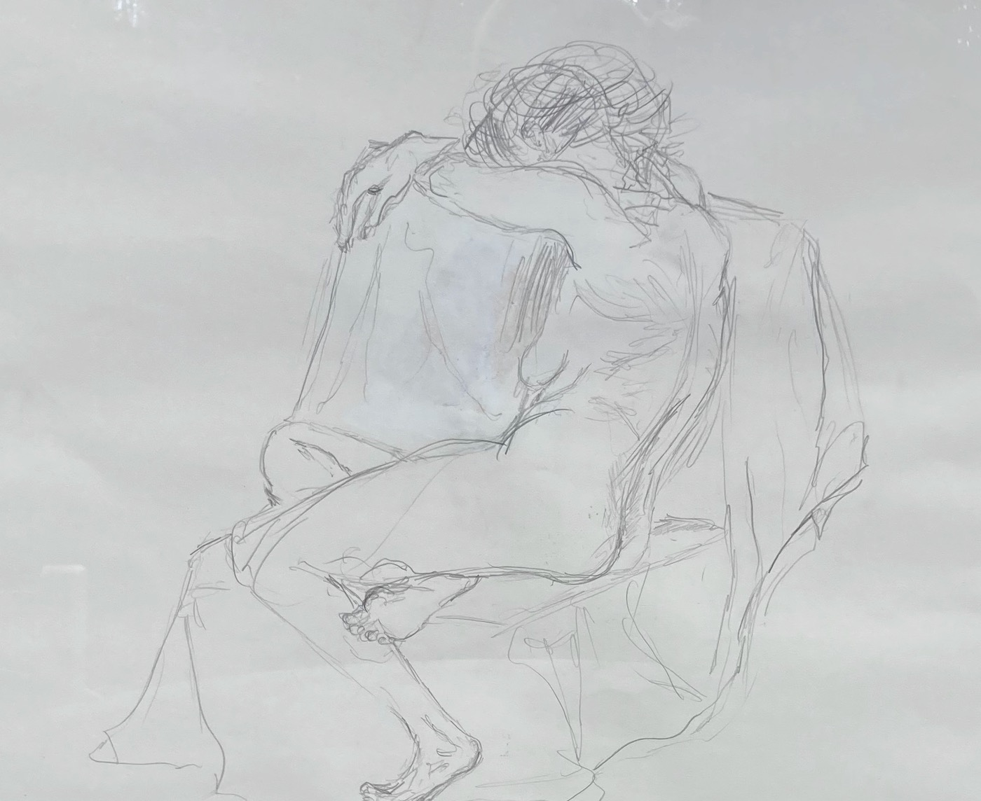 Akt (2), Bleistift auf Papier, 40x50, 1992
